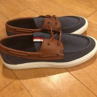 Tommy Hilfiger Mens Nautical Navy Boat Shoes - Size 12