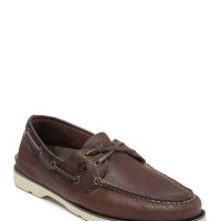 Sperry Leeward 2 Eye Leather Boat Shoes - Mens Shoes