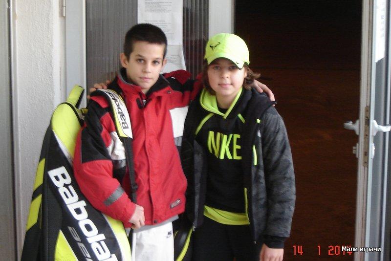 Finalisti Božićnog turnira 2014 Crvena Zvezda Stefan D. Popović i Aleksandar Ljubojević