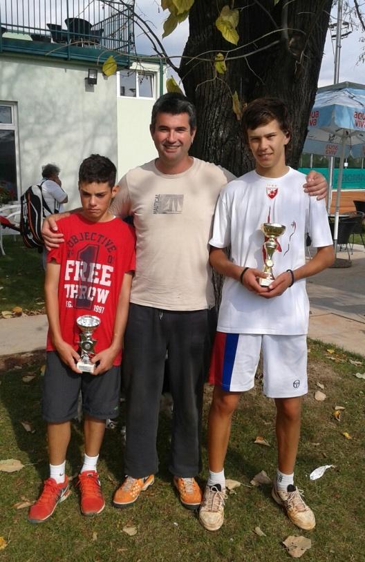Nemanja Subanović i Dušan Obradović, finalisti turnira u teniskom klubu Slice Valjevo