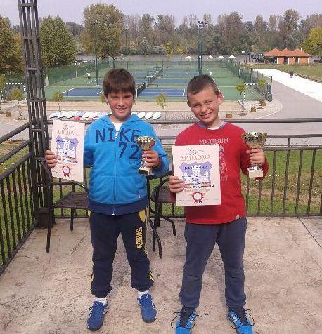 Uroš Radovanović i Kosta Benić, Teniski klub Marina Oasa, zeleni nivo, dečaci