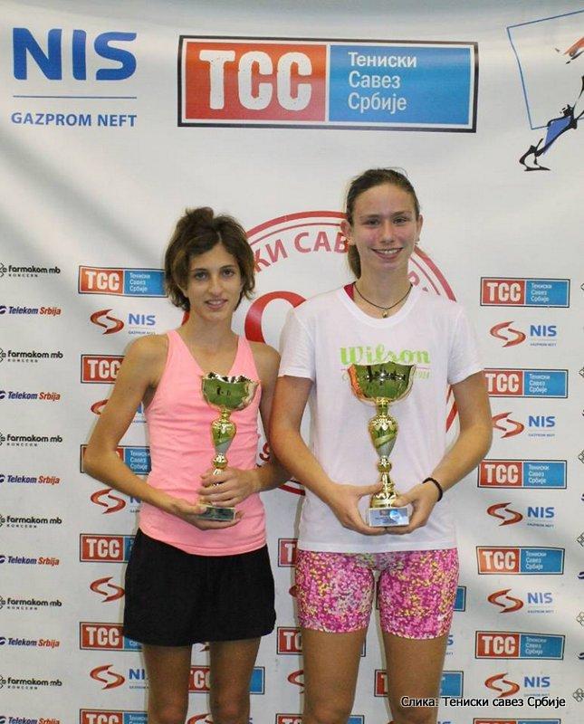 Masters Teniskog saveza Srbije 2014, devojčice do 14 godina, Emilija Kojčić i Milica Vujović