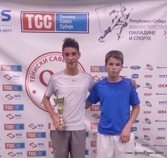 Masters Teniskog saveza Srbije do 14 godina, Vuk Marković i Mihajlo Drobnjaković