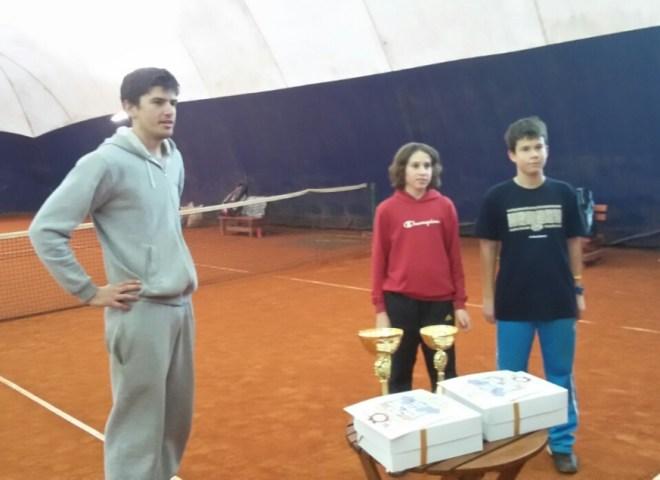Mihailo Radosavljević i Viktor Stojanović, finalisti Otvorenom prvenstva Beograda do 14 godina u teniskom klubu Step In, Vlada Paunić
