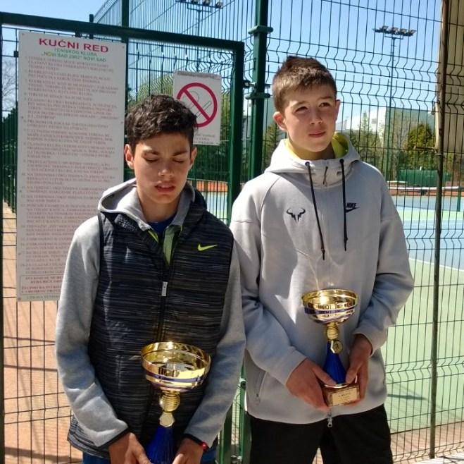 Dušan Obradović i Jovan Vučić, Prvenstvo Vojvodine do 14 godina, Teniski klub Novi Sad 2002