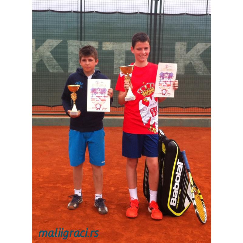 Filip Nenadović i Petar Teodorović, Prvenstvo Beograda do 12 godina, TK Reket Beograd, 2015