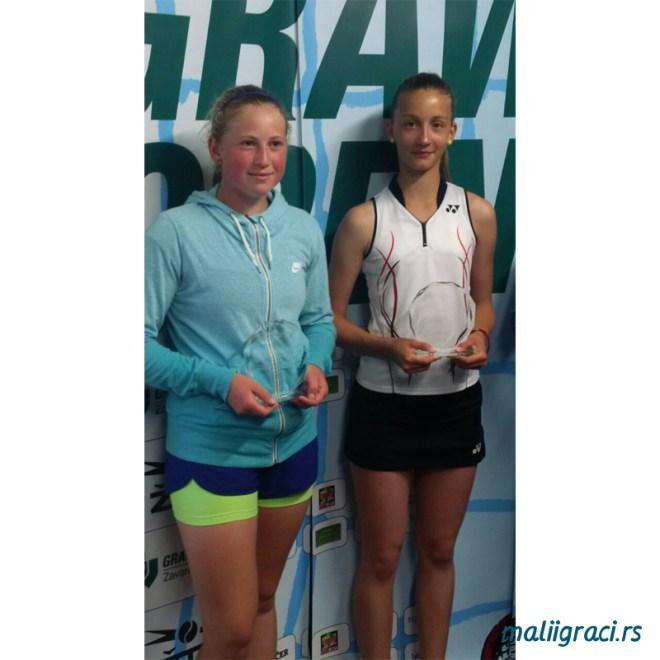 Zala Ule, Anđela Vidović, Grawe Open Maribor U14, Tennis Europe Junior Tour