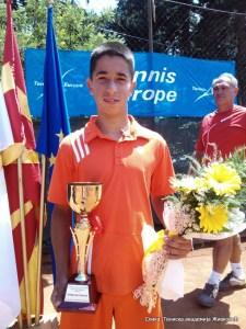 Лука Стефановић други на Bitola Open 2015 U14 ТЕ у Битољу