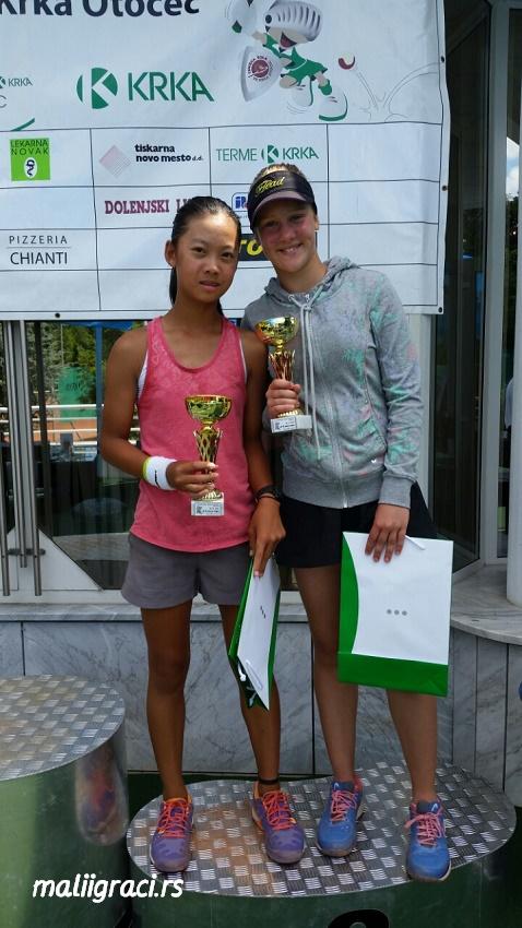 Chloe Isabella Tsang, Iva Divac, Otočec ob Krki, Krka Cup 2015 U12, Tennis Europe Junior Tour
