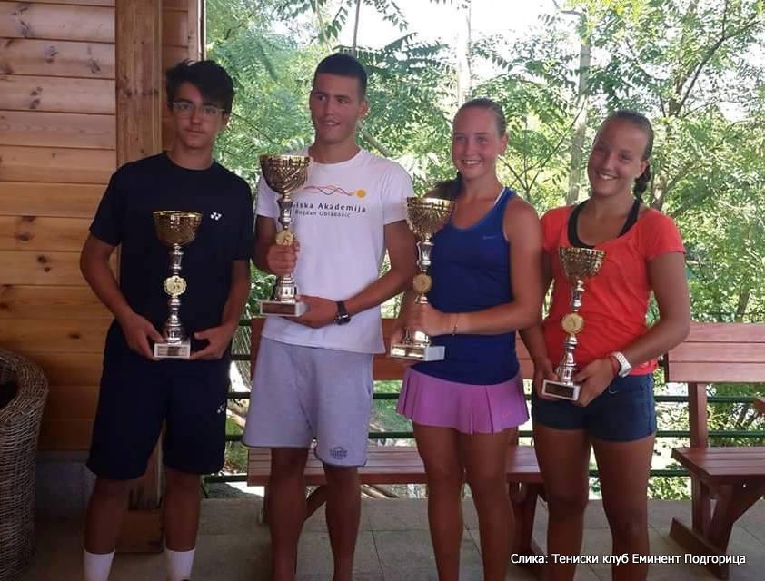 Giuseppe La Vela, Igor Banićević, Mihaela Đaković, Avelina Sayfetdinova, Eminent Podgorica Open U16, Teniski klub Eminent Podgorica, Tennis Europe Junior Tour