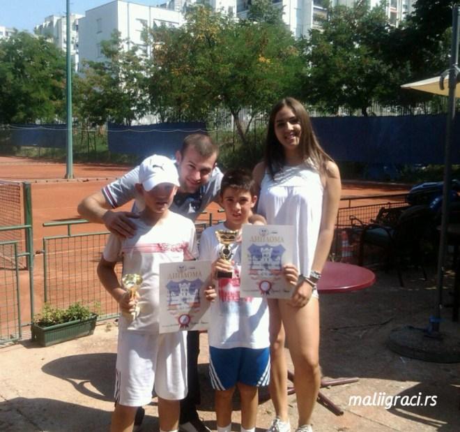 Petar Ćertić, Mihailo Ugrčić, Lazar Virijević, Andrea Vujović, Teniski centar Master Beograd, Teniski klub Master Beograd