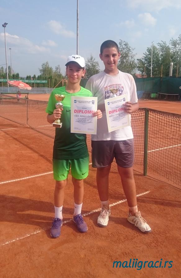 Sava Radović, Nikola Nikolić, Otvoreno prvenstvo Zaječara u tenisu do 14 godina, Teniski klub As Timok Zaječar