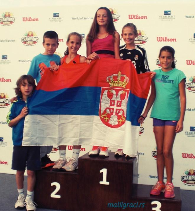 Jovana Grujić, Simeon Stanković, David Rakić, Fatma Idrizović, Mia Ristić, Anja Petković, Champions Bowl 2015, Antalya Turkey