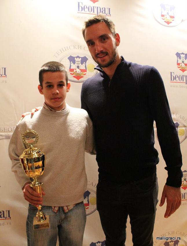 Aleksandar Ljubojević, Viktor Troicki, dodela nagrada za najbolje igrače Teniskog saveza Beograda