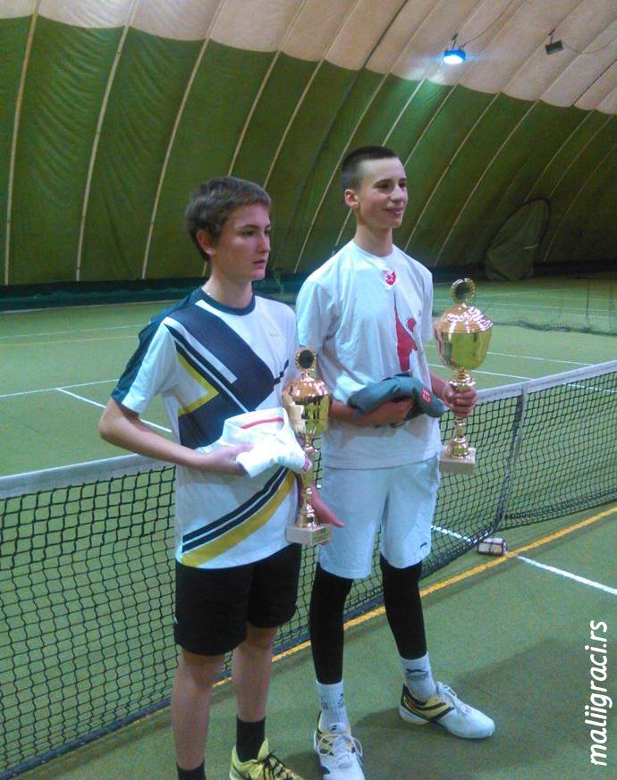 Kristian Juhas, Bodin Žarković, Dvoransko prvenstvo Srbije u tenisu do 16 godina, TK 3D Subotica