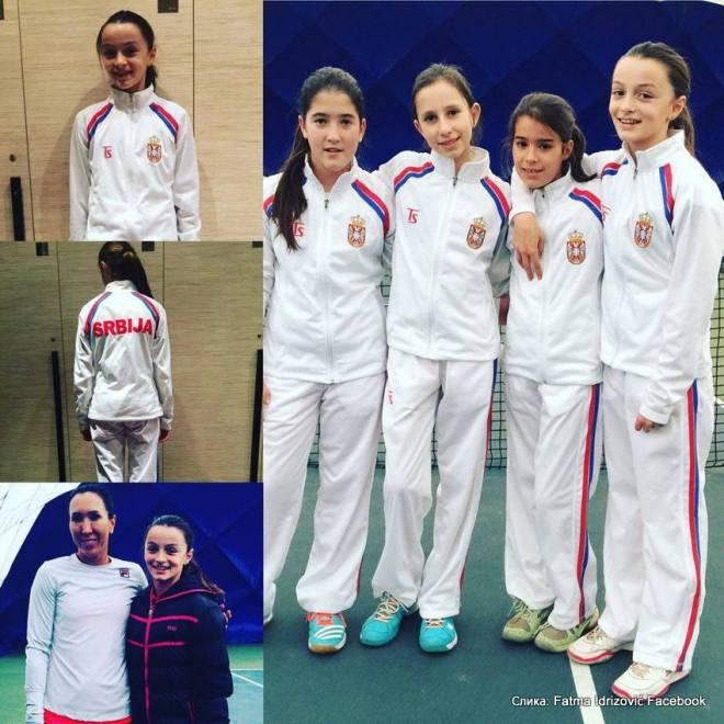 Lea Rupnjak, Andrea Obradović, Anja Petković, Fatma Idrizović, reprezentacija Srbije u tenisu do 12 godina