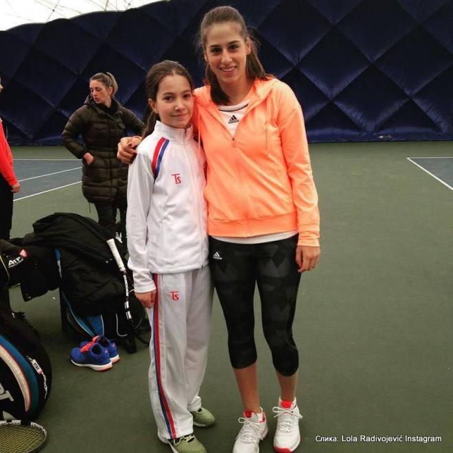 Lola Radivojević, Ivana Jorović, pripreme reprezentacije do 12 godina za Winter Cup