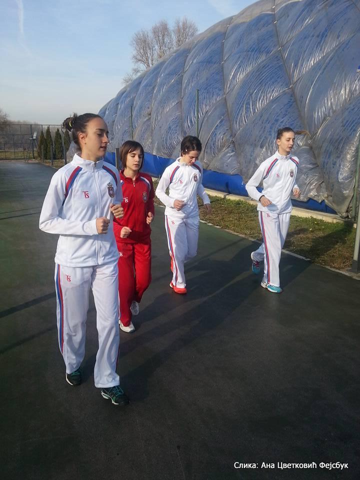 Anđela Vidović, Iva Pantović, Natalija Senić, Milana Vulin, Tennis Europe Winter Cups by HEAD
