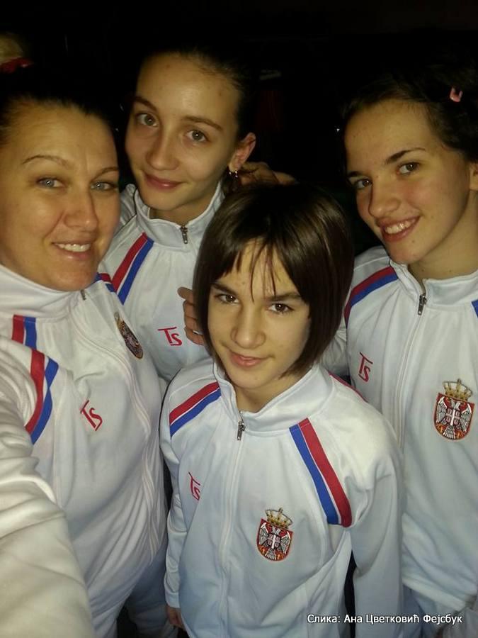Anđela Vidović, Iva Pantović, Natalija Senić, Ana Cvetković, Tennis Europe Winter Cups by HEAD