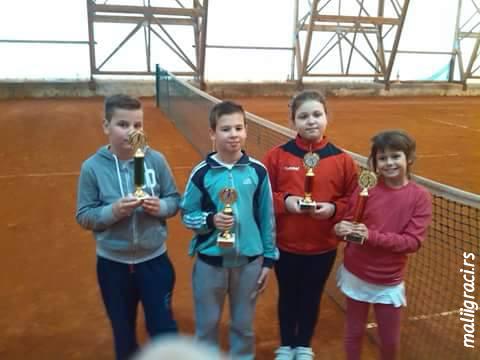 Danilo Jovanović, Aleksa Marinović, Nataša Bufanović, Jana Radojković, Otvoreno prvenstvo Bora do 10 godina, Teniski klub Rudar Bor