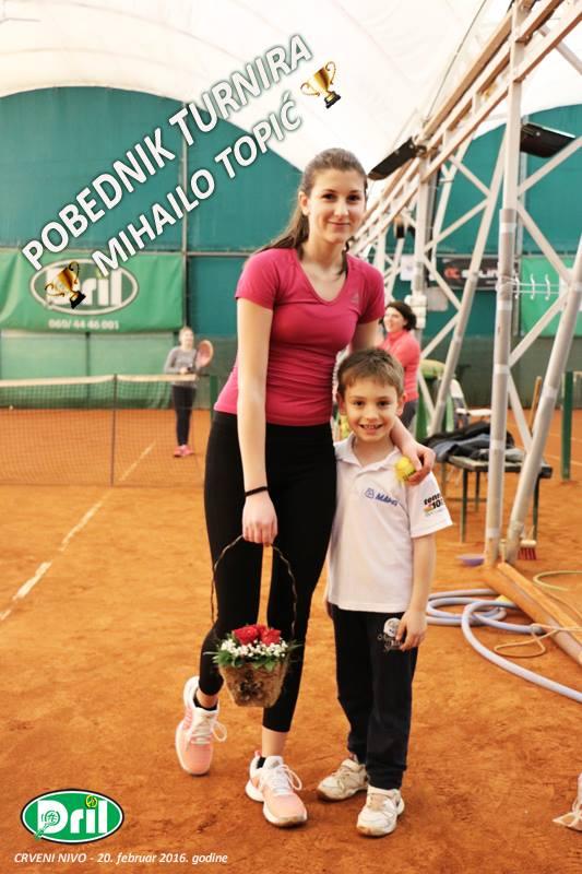 Mihailo Topić, Turnir crvenog nivoa, Teniski klub Dril Beograd