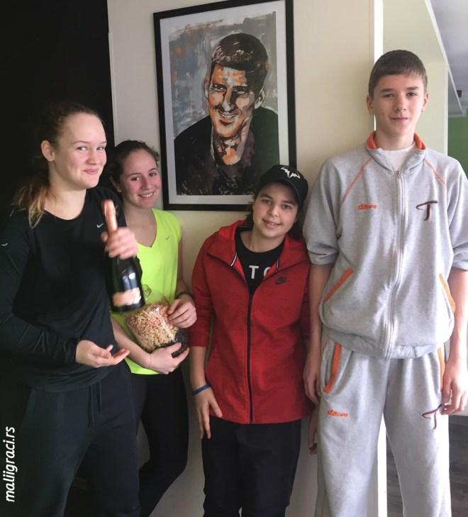 Iva Divac, Sofija Đunisijević, Stefan Popović, Dušan Trunić, Slovan Open 2016 U14 Bratislava, Tennis Europe Junior Tour