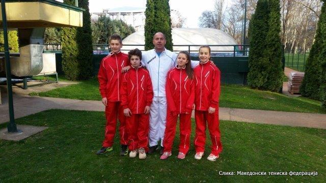 Gjorgji Jankulovski, Vedran Radonjanin, Slobodan Bačvarski, Jana Ognjanovska, Ana Ristevska, ITF/Tennis Europe 14 & Under Development Championships, Antalya, Turkey