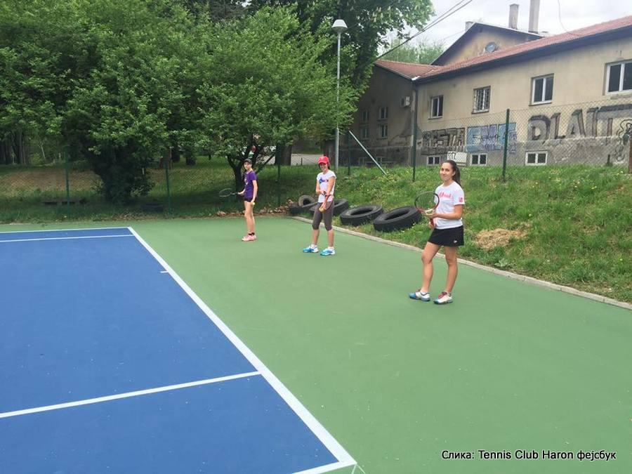 Novi tereni sa US Open podlogom, Teniski klub Haron Beograd