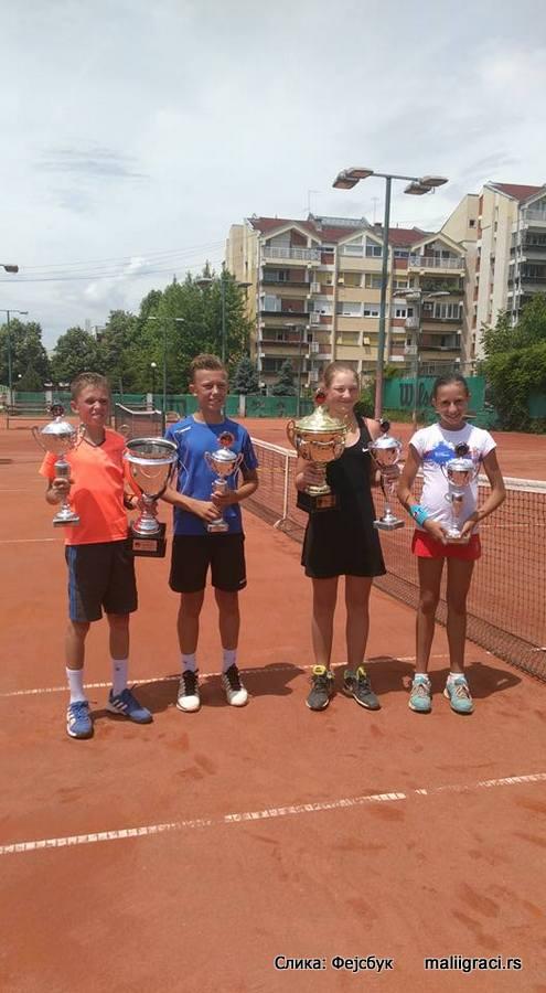 Rozalia Gruszczynska, Luka Jovanović, Nikola Zekić, Andrea Obradović, Tennis Point Open 2016 Čačak U12, Tennis Europe Junior Tour, Teniski klub Tennis Point Čačak