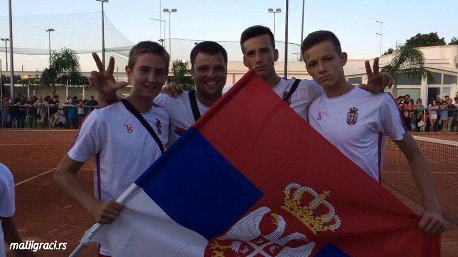 Kristian Juhas, Ladislav Demeter, Bodin Žarković, Mihailo Popović, European Summer Cups U16, Tennis Europe Junior Tour