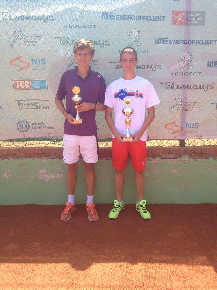 Nikola Slavić, Kristian Juhas, Niš Open 2016 U16, Tennis Europe Junior Tour, Teniska akademija Živković Niš