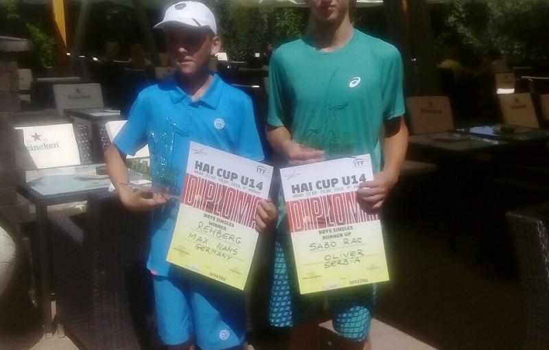 Oliver Sabo Rac, Max Hans Rehberg, HAI CUP U14 Arad, Tennis Europe Junior Tour