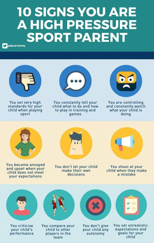 10 знакова да сте родитељ који врши велики притисак на спортисту