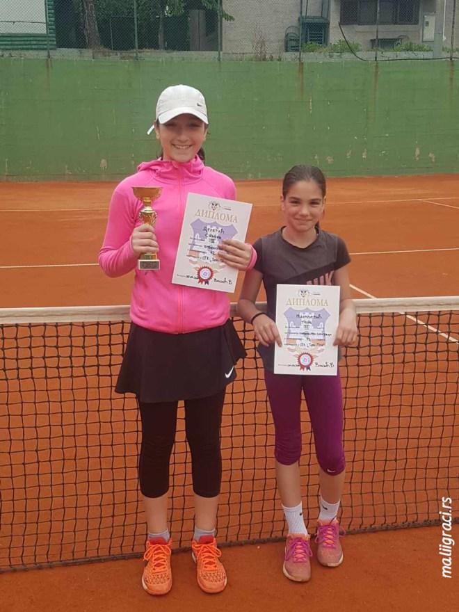 Tara Mihaljević, Simona Deletić, Prvenstvo Beograda za devojčice do 12 godina, Teniski klub Top Ten Vinča