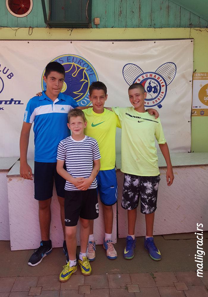 Stefan Malbaša, Nenad Bukarica, Petar Belošević, Cacak Open 2017 U14, Čačak, Srbija, Tennis Europe Junior Tour, Teniski klub Sloboda Čačak