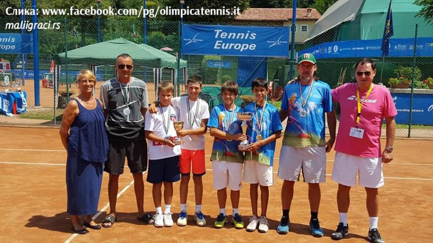 Репрезентација Србије на Купу нација – Nation Cup – Lampo Trophy U12 Tennis Europe у Резату, Италија