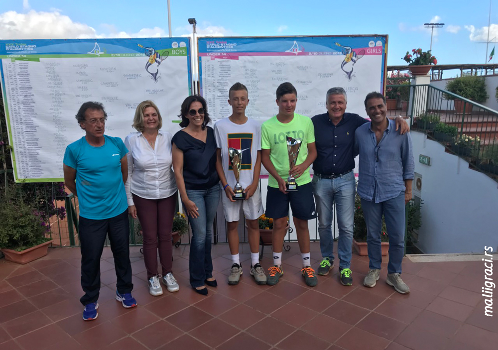 Luka Jovanović, Mili Poljičak, Pedro Rodenas, Luca Van Assche, XXX TROFEO CARLO STAGNO D'ALCONTRES 2018 Mesina Italija, Tennis Europe Junior Tour