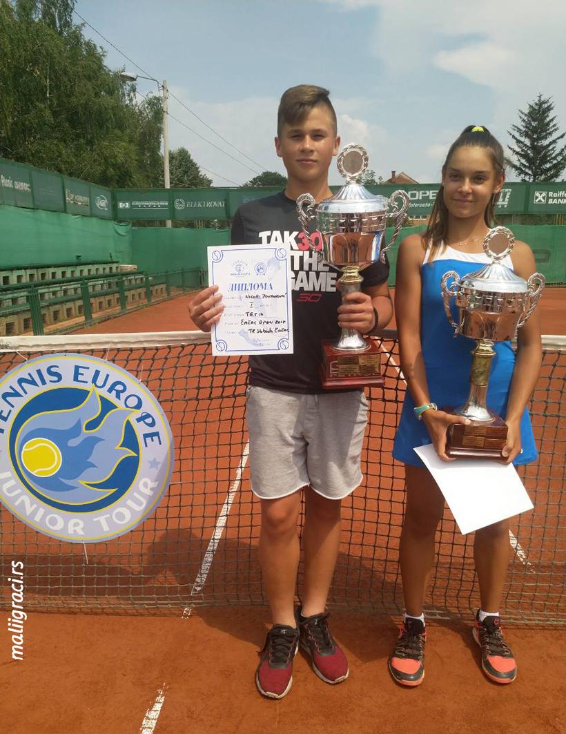 Nikola Jovanović, Melisa Ercan, CACAK OPEN 2018 U14 Čačak Srbija, Teniski klub Sloboda Čačak, Tennis Europe Junior Tour