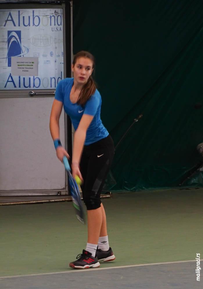 Natalija Senić, Dvoransko prvenstvo Srbije do 16 godina, Teniski savez Srbije, Teniski klub Trim Beograd