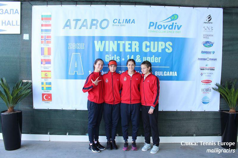 Lola Radivojević, Tijana Sretenović, Darja Šuvirđonkova, Bojana Jovanovski Petrović, Tennis Europe Winter Cups by HEAD U16 Plovdiv Bugarska