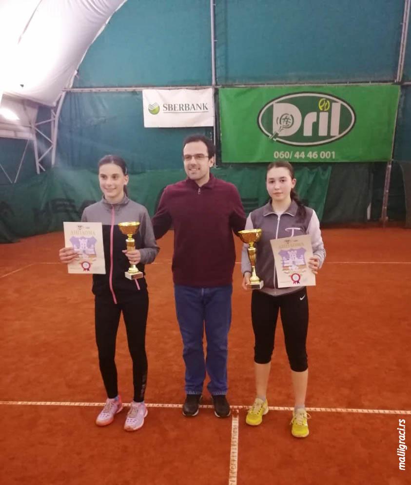 Nina Zabrdac, Maja Miščević, Otvoreno prvenstvo Beograda za devojke do 16 godina, Teniski klub Dril Beograd