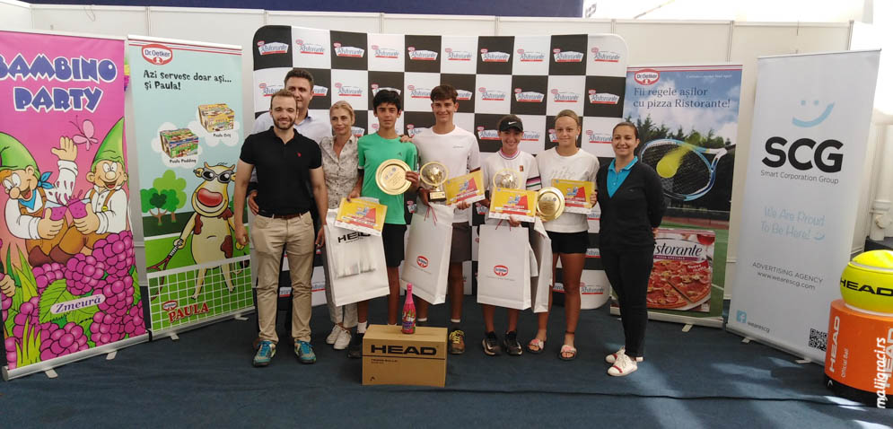 Emiliija Zdravković, Maria Sara Popa, Mihai Alexandru Coman, Rodrigo Pacheco Mendez, Dr Oetker Junior Trophy U14 Bukurešt Rumunija, Tennis Europe Junior tour