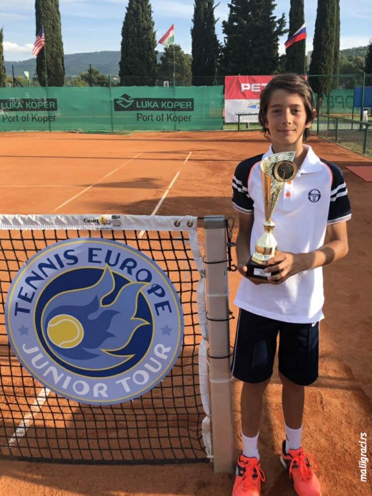 Ognjen Milić, 12. Luka Koper Junior Open International Junior Tennis Championships, Kopar Slovenija, Teniski klub Kopar, Tennis Europe Junior Tour