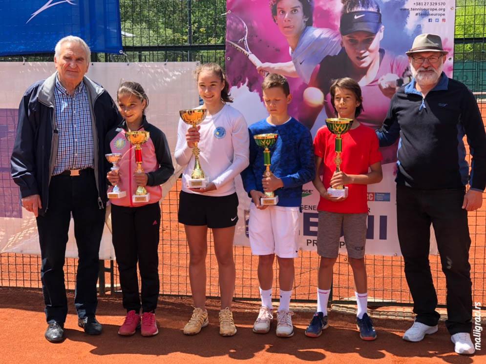 Vuk Kruščić, Ognjen Milić, Aleksandra Stevanović, Maria Masiianskaia, Žika Minić, PROKUPLJE OPEN 2019 U12, Teniski klub Topličanin Prokuplje, Tennis Europe Junior tour