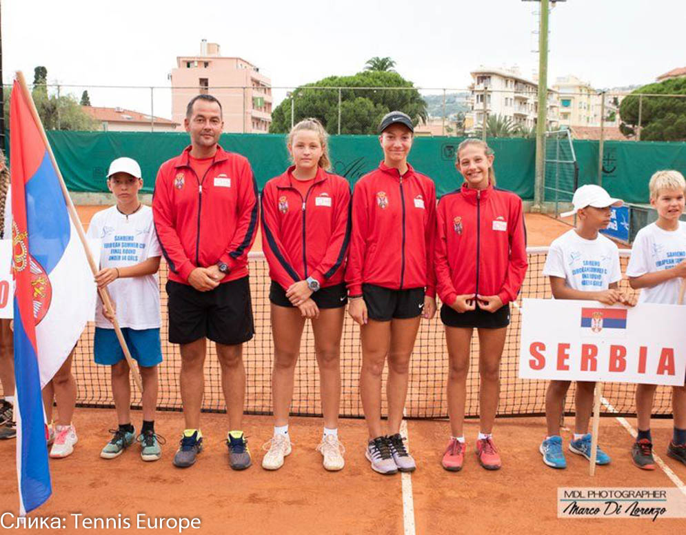 Lola Radivojević, Tijana Sretenović, Mia Ristić, Nemanja Ivić, European Summer Cups 2019, Tennis Europe Junior Tour