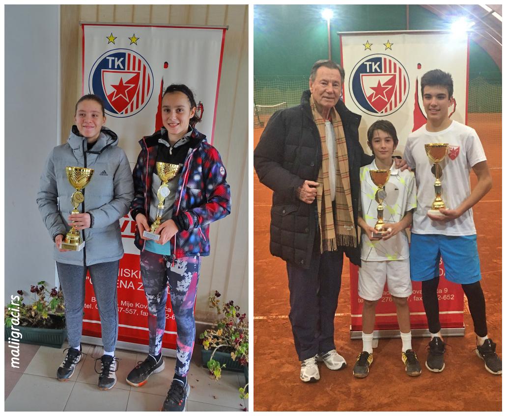 Ognjen Milić, Todor Vukomanović, Ana Savković, Milica Popovski, Nikola Pilić, BOŽIĆNI TURNIR 2020 U14, Teniski klub Crvena zvezda Beograd, Tennis Europe Junior Tour