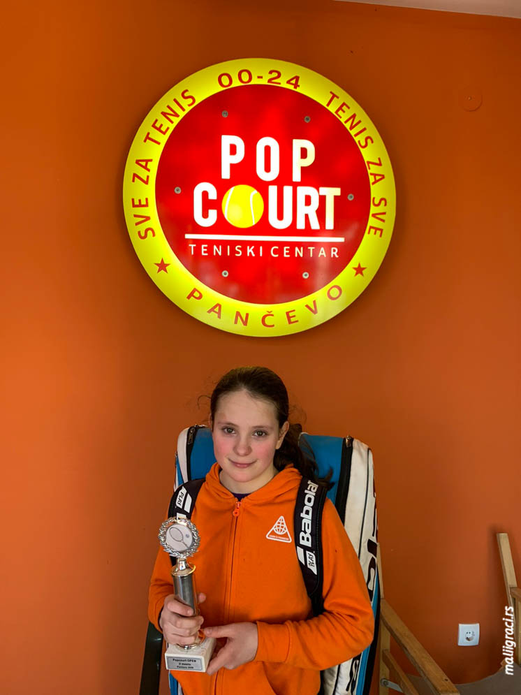 Emilija Miljković, Otvoreno prvenstvo Pančeva do 12 godina, Teniski klub Mladost Pančevo, Teniski centar Pop Court Pančevo