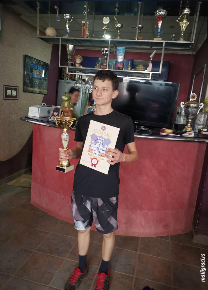 Ognjen Gajić, Otvoreno prvenstvo Beograda za mladiće do 16 godina, Teniski klub Master Beograd, Teniski centar Master Beograd