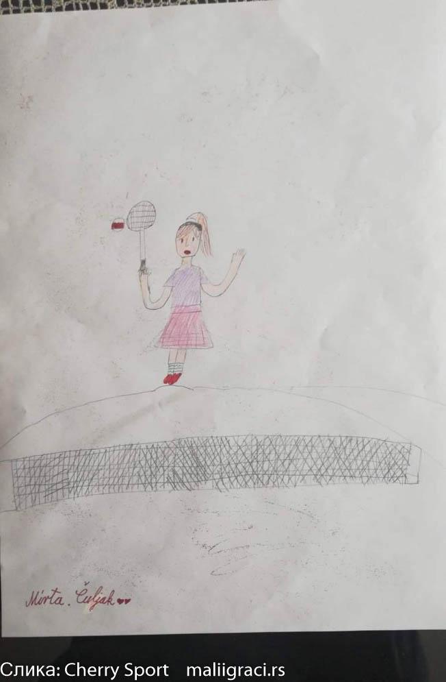 Mirta Čuljak, Konkurs Crtam Pravim Pišem dok ne igram, Motivaciono nagradni konkures, Cherry Sport, Dečiji svet tenisa