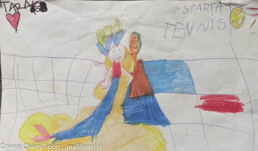 Tara Vukov, Konkurs Crtam Pravim Pišem dok ne igram, Motivaciono nagradni konkurs, Cherry Sport, Dečiji svet tenisa